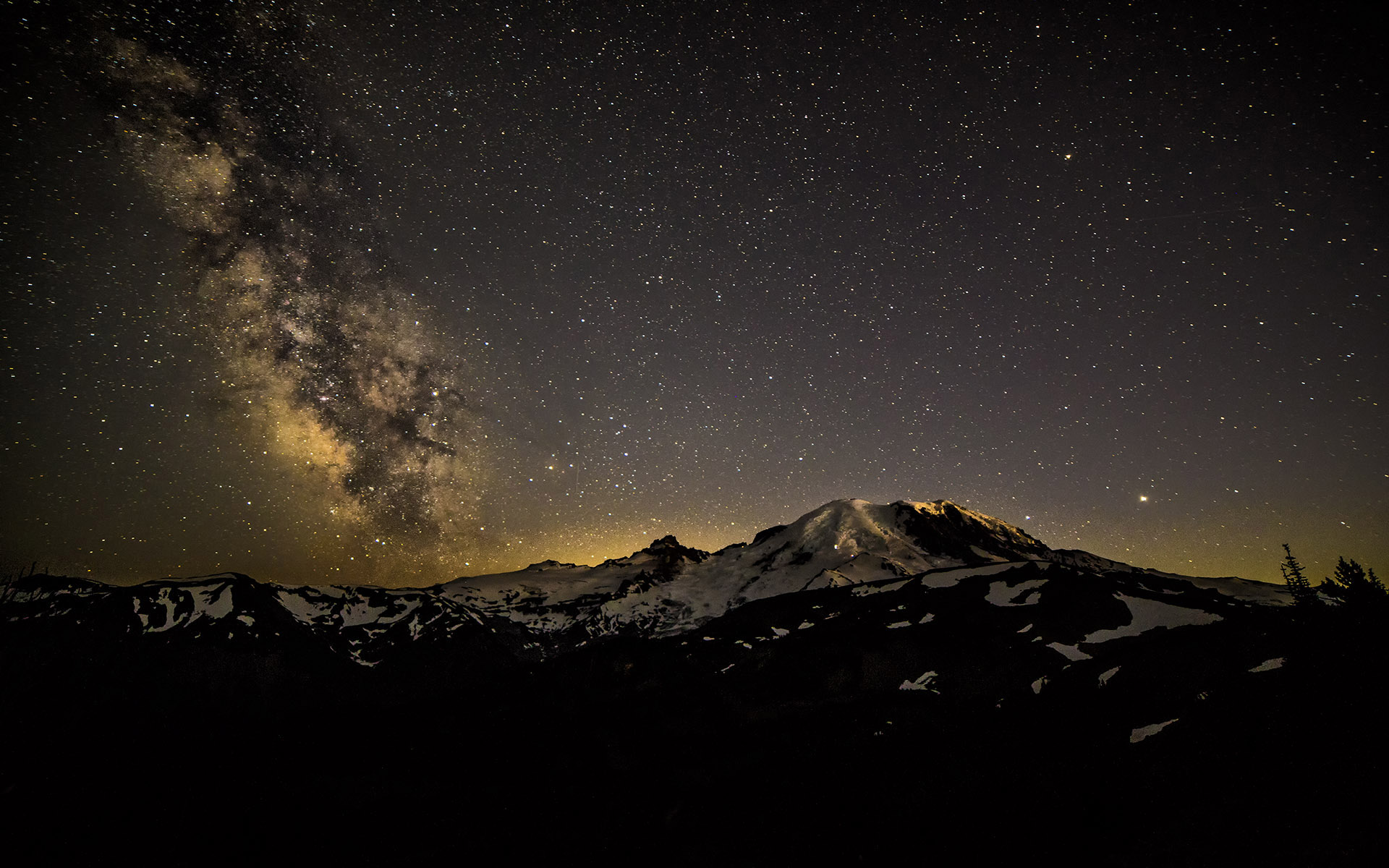 MRMW-1727-1TC Milky Way Over Mt. Rainier IV