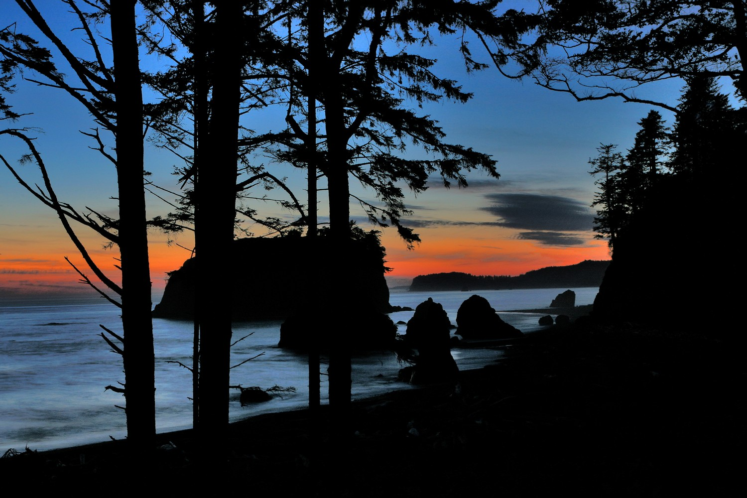 RB-7103-1NS Sunset on Ruby Beach I